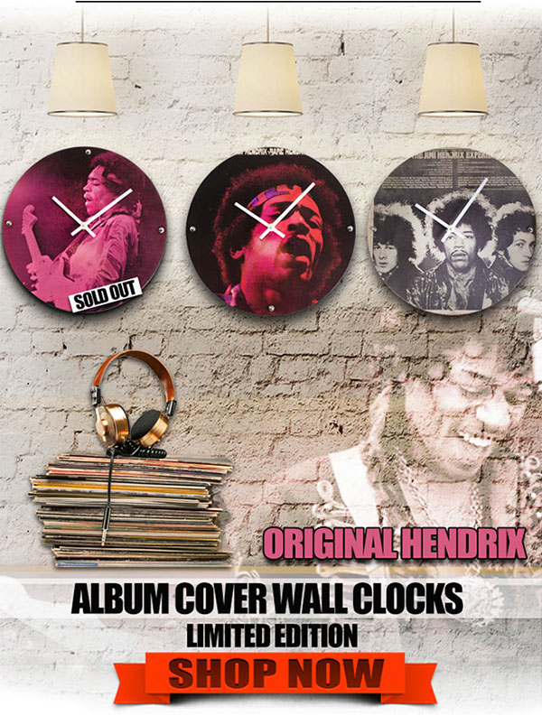 Tribut Apparel Original Jimi Hendrix Inspired Wall Clocks | LIMITED EDITION. Shop now!